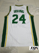 NEW Cheap Kyrie Irving 24 St. Patrick High School White Basketball Jersey Throwback Sewn Shirt Any Size Free Shipping(China)