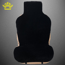 1 pc front cars fur cape universal size car seat covers car avtochehol artificial  color black auto sales in 2016 i001-1