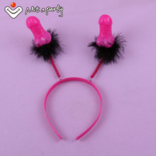Sex products penis willy headband 30% off for 2pcs hens night hen Bachelorette Party hair accessories event party supplies