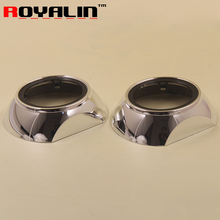 2pcs 3.0 inch HID Bi Xenon Projector Lens Shroud for Volkswagen Tiguan Style Car Heatproof Headlights Mask Motorcycle Lamp Cover
