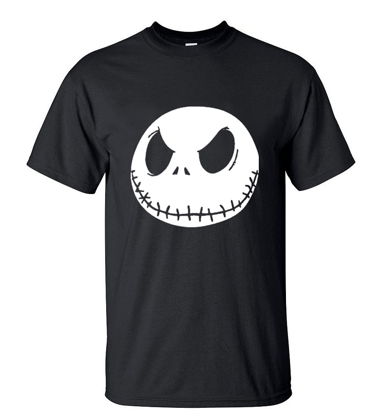 nightmare before christmas cartoon Jack Skellington Men T Shirt Grimace 2019 Summer New 100% Cotton Hip Hop Streetwear T-Shirt