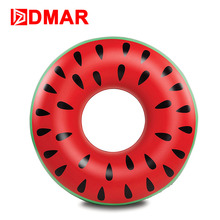 DMAR Inflatable Watermelon Swimming Ring Giant Pool Float Swimming Circle for Adult Kids 2 Sizes Mattress Water Toys Mat Beach