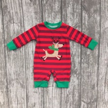 girls Christmas new design reindeer outfits infant toddler baby girls romper infant jumpsuits clothes Christmas romper sets(China)