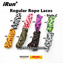 SunFei Hiking Climbing Polyester Shoelace Promotion Gift Durable Round Oval Rope Athletic Shoelaces 8 Colors - DHL FREE SHIPPING(China)