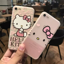 Cartoon Hello Kitty Princess Flowers soft case for iphone 5s SE 6 6s Plus 7 cover funda for iphone 5 6s 7  Plus capa Hot Design