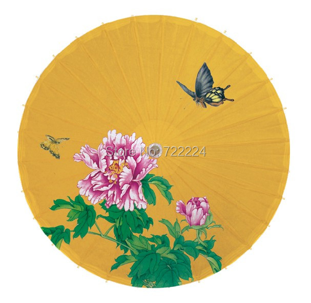 Free shipping dia 84cm chinese handmade classical peony painting rain proof,parasol,props,decorative women oiled paper umbrella<br>