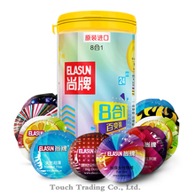 Elasun 24pcs/Box Ultra Thin Fruit Extra Safe female orgasm penis extender sleeve silicone latex condom sex toys condoms for men(China)