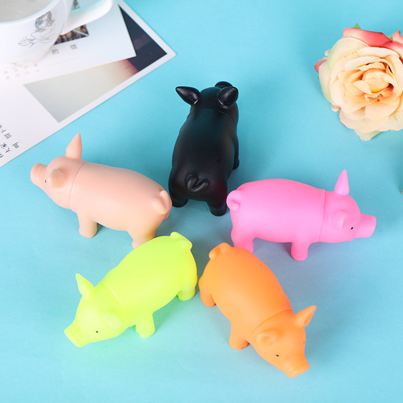 1pcs fun Easter shrieking Mini rubber piglets extruded toys for children adult toy chicken anti stress tools sharp sound toys