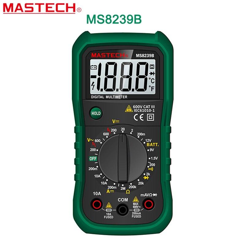 Digital Multimeter MASTECH MS8239B  DMM AC/DC Voltmeter DC Ammeter Ohmmeter w/ Battery Current Resistance Tester Multitester<br><br>Aliexpress
