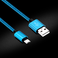 0.25m 1m 2m 3m Nylon Micro USB Cable 2.1A Fast Charging USB Data charger Cord Cables for Android Mobile Phones Power Bank Line 3