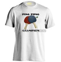 PING PONG CHAMPION Mens & Womens Casual T Shirt Fitness T Shirt(China)