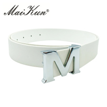 M Letter Wedding Dress Belts for Women 2017 Designer Women Belts High Quality PU Leather(China)