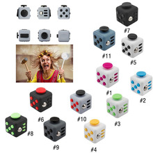 2017 New 11 Style Fidget Toys Original Stress Cube Puzzles & Magic Cubes Anti Stress Reliever+Cube Protective Cover Case 3.3cm