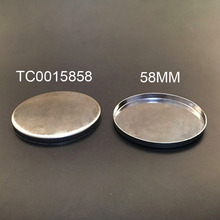 58mm round aluminum compact  powder pressed pan for powder case 12000pcs/lot