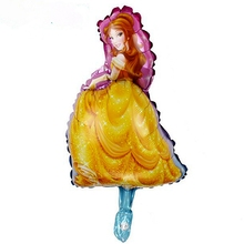Wholesale 20pcs Cartoon Princess Girl Foil Balloon Child Birthday Party Baby shower Favorite Toys Gifts Wedding Home Decoration
