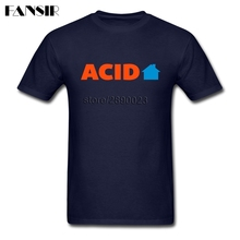 XS-3XL Acid House Music Quote Geek T Shirts Men Male Short Sleeve O Neck Men T-shirts Guys Clothes Tops(China)