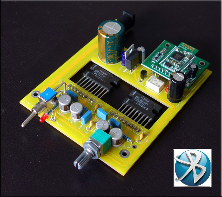Classic TDA1521 BTL Power Amplifier Kit, Single Power with Bluetooth 4 Finished Product Board<br>