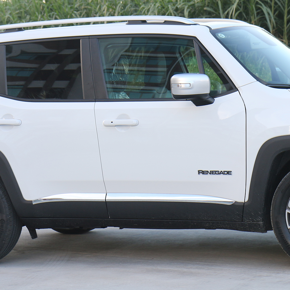 SHINEKA Car Accessories ABS Door Body Side line Molding Trim for Jeep Renegade 2015-2016<br>