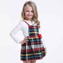 Spring 2017 girls Plaid dress brand children's clothing kids dresses for girls Clothes Online Store vestidos infantil