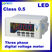 Three phase led voltage meter HY-3AV series ac dc digital voltimetro Class 0.5 voltimetro digital