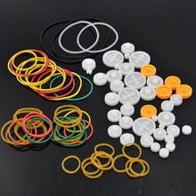84pcs Mixed Plastic Wheel Pulley Belt Gear Gearbox Rubber Band Sheaves DIY Car Robot RC Aircraft Plane Ship Vehicles Robot Toy