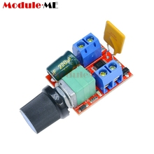 Mini 5A PWM Max 90W DC Motor Speed Controller Module DC-DC 3V-35V Speed Control Adjust Adjustable Board Switch LED Dimmer(China)