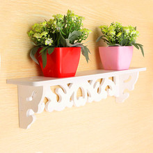 1pc/lot White Wall Hanging Shelf Goods Convenient Rack Storage Holder Home Bedroom Decoration Ledge Home Decor S/M KO882499(China)