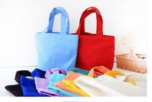 Candy Color Canvas bag with handle cotton tote for DIY blank Fit For Lunch Box makeup bag