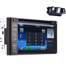 "Double 2 Din In Dash Head Deck 6.2"" Inch LCD Car DVD Player Stereo Radio Mp3 SD USB RDS Auto Large LCD +Rear Camera Included"