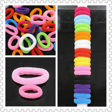 80pcs/lot 30mm Colorful Child Kids Quality Hair Holders Cute Rubber Bands Hair Elastics Accessories Girl Baby Charms Tie Gum(China)