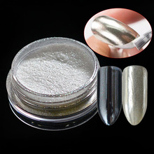 1g Mirror Silver Nail Glitter Powder Shinning Fine Chrome Pigment Nail Art Holographic DIY Charm Powder Dust Tools CH#4
