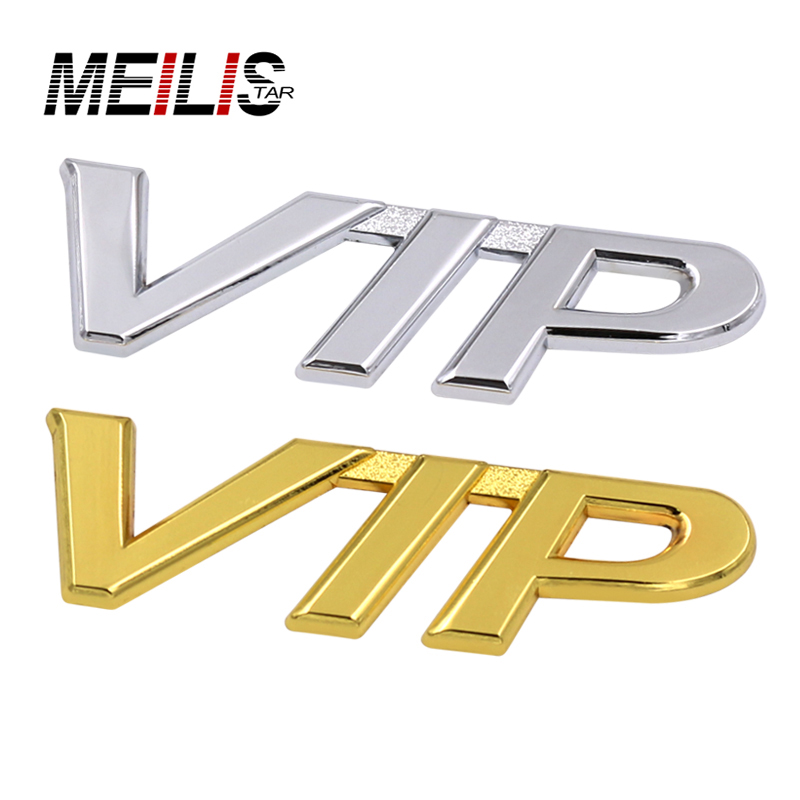New Chrome plated metal 3D luxury VIP logo decals stickers badges badges various models of car modeling accessories Car-styling(China (Mainland))