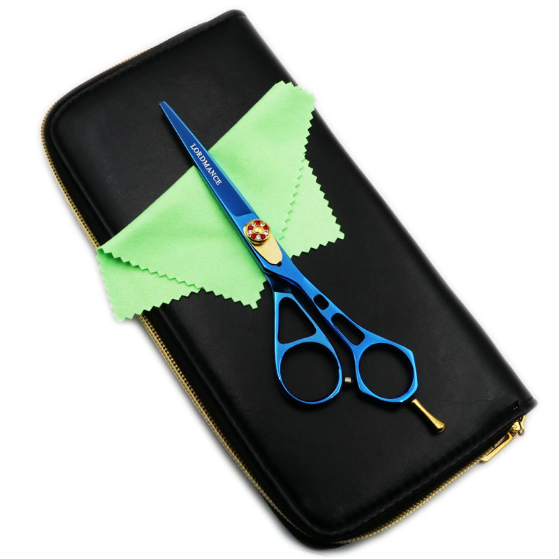 6 Inch Professional Hairdressing Cutting Scissors Hair Shears for Hair Salon Barber High-quality Blue Style With bag<br>
