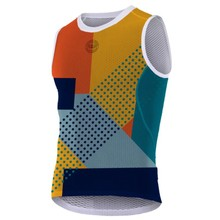 TEAM VICTORY C 2019 New Brand cycling base layer orange yellow blue Multi-color camouflage sleeveless Jacquard mesh underwear(China)