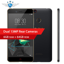 "Original ZTE Nubia Z17 Mini 6GB RAM 64GB ROM Snapdragon 653 64bit Octa Core 5.2"" 1920X1080 Mobile Phone 4G LTE Dual 13MP Camera(China)"