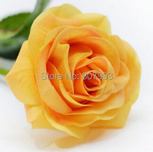 Yellow Real touch lifelike rose Latex artificial flower,Home Christmas Decoration roses flowers arrangements ,wedding bouquet(China)