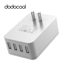 dodocool 20W 4A 4 Ports USB Charger Wall Charger with Surge Protection For iPhone7 Samsung galaxy s6 s7 edge Xiaomi Mi5 4 LG G5(China)