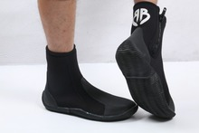 Fishing Snorkeling Black Shoes Mens Scuba Booties Diving Boots With Thermal Slip-resistant 5mm