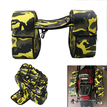 2PCS Motorcycle Saddle Bag Desert Camouflage Motorbike Canvas Tank Bag Motocross Helmet Bag Tool Tail Box Luggage Saddlebag(China)