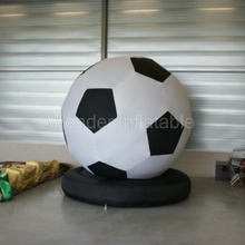 Custom made 3M giant inflatable football balloon/soccer replica model for advertising