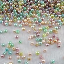 Wholesale Mixed Colors 4mm 6mm 8mm 10mm Round Shape Imitation Glass Pearl Beads for Jewelry Making Craft DIY GL-05(China)