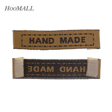 Hoomall Brand 100PCs Brown Woven Labels Garment/Shirt/Shoes/Bags Label Clothing Labels / Embroidered Tag(China)