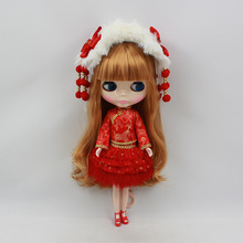 New Year festive red costume of Blyth Doll Chinese Style New Year Clothing For 1/6 Blyth Doll