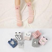 MUQGEW 4 Pairs Toddlers Kids Girls Cute Animals Pattern Knee High Socks Cotton Cute Unisex Socks Ankle Moisture Resistance Sox(China)