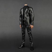 1:6 Scale ZY-5007 Black Leather Gentleman Suit Set for 12 inches Male Action Figure(China)