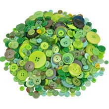 600Pcs Mixed Size Round Green Resin Buttons Decorative Sewing Buttons Scrapbooking DIY Accessories