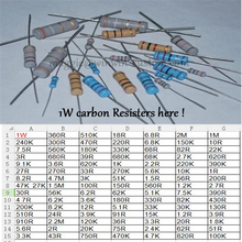 Free ship with track 500pcs 100R 1W DIP Resistors carbon Resisters 1W 100ohm 5% Carbon Film Resistor other value pls check page