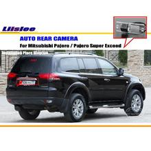 Car Rear View Camera For Mitsubishi Pajero / Pajero Super Exceed / Reverse Camera / HD CCD RCA NTST PAL / License Plate Light