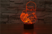 slam dunk Hanamichi Sakuragi Action Figure LED Night Light 7 colors changing 3D Table Lamp Gradient Atmosphere Touch Lamp(China)