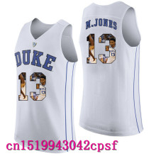 2017 Hot Sale Devils Garyson Njones #13  Duke Blue Basketball Jerseys High Quality